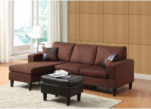 ROBYN CHOCOLATE MICROFIBER SECTIONAL