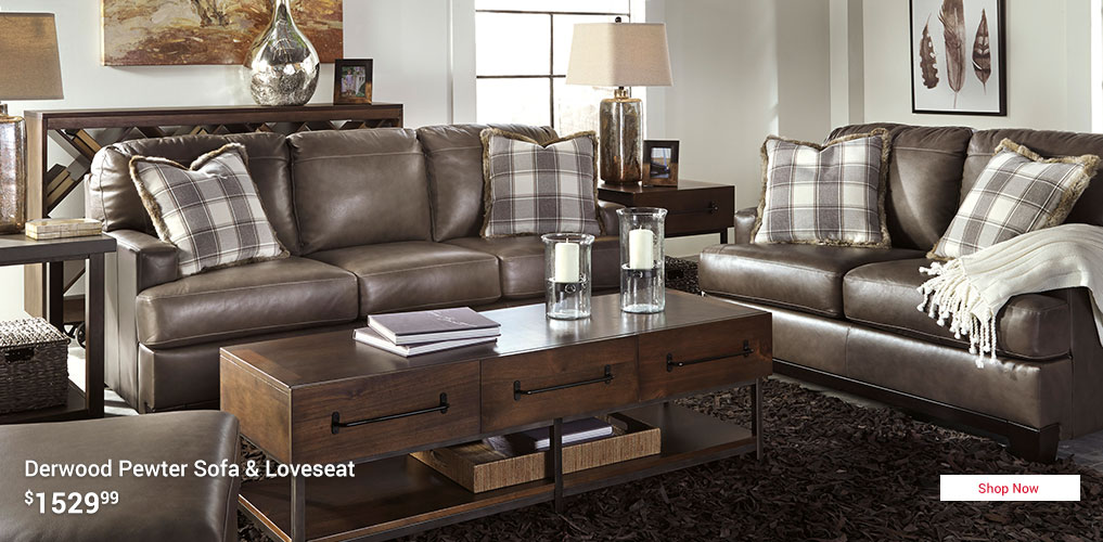 Derwood Sofa and Loveseat