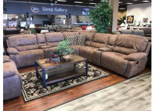 San Jose 5-Piece Sectional W/ Left & Right Facing Power Recliner