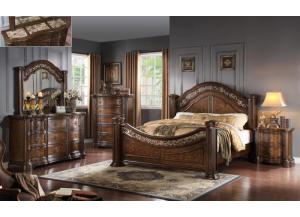 James 4pcs Cal. King Bedroom Set