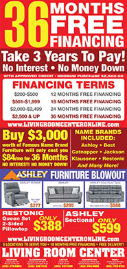 36 Months Free Financing