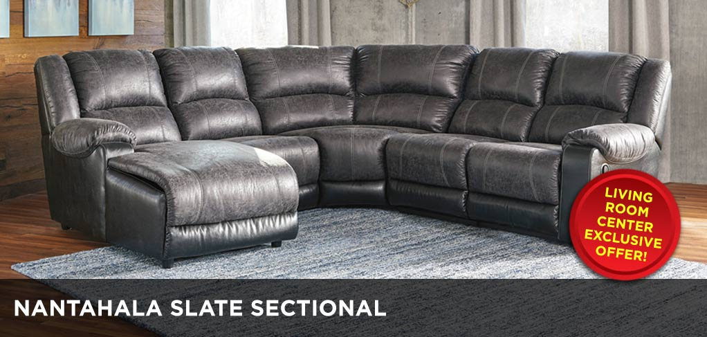 Nantahala Slate Sectional