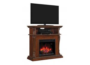 Corinth Premium Walnut Fireplace