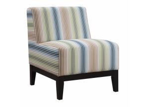 Multi-Color Striped Accent Chair