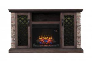 Capitan Media Mantel with Insert - Brushed Homestead Fireplace