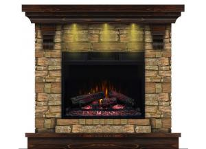 Stone Mantel with Aged Coffee Mantel Top/Base Fireplace