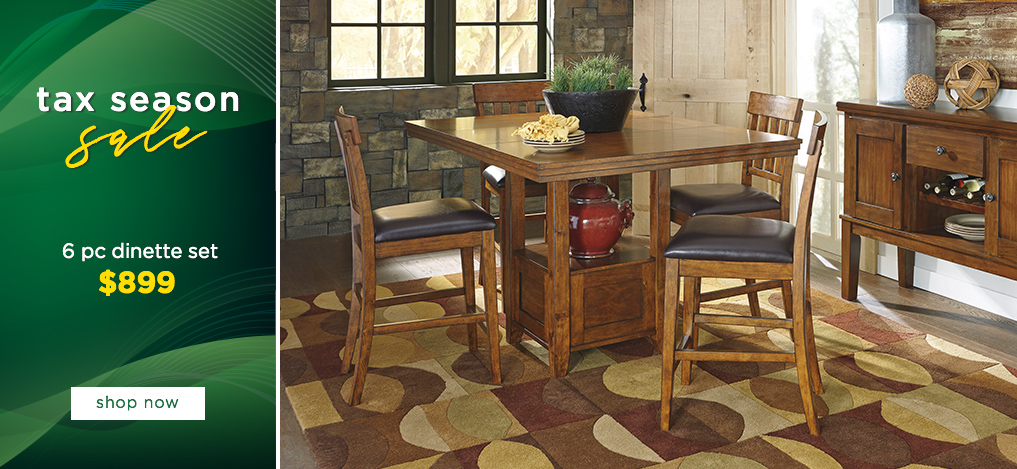 Tax Season Sale On All Counter Height Furniture Set