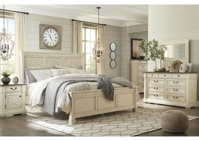 Bolanburg Antique White Queen Panel Bed, Dresser, Mirror, & Nightstand,Instore