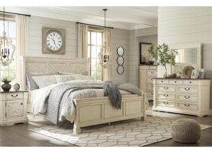Image for Bolanburg Antique White Queen Panel Bed, Dresser, Mirror, & Nightstand