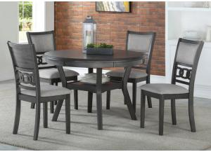 Gia Gray Dining Set W/ 4 Chairs