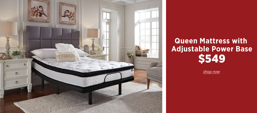 Queen Mattress with Adjustable Base