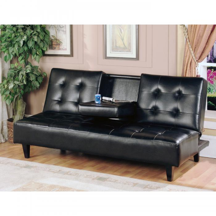 Sofa Bed with Tray-Black,Avita Furniture