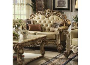 Vendome Bone PU-Loveseat