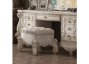 Versailles in bone white finish-Vanity Stool