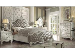 Versailles in bone white finish-Bedroom Set (7Pcs)