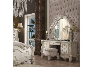 Versailles in bone white finish-Vanity Desk