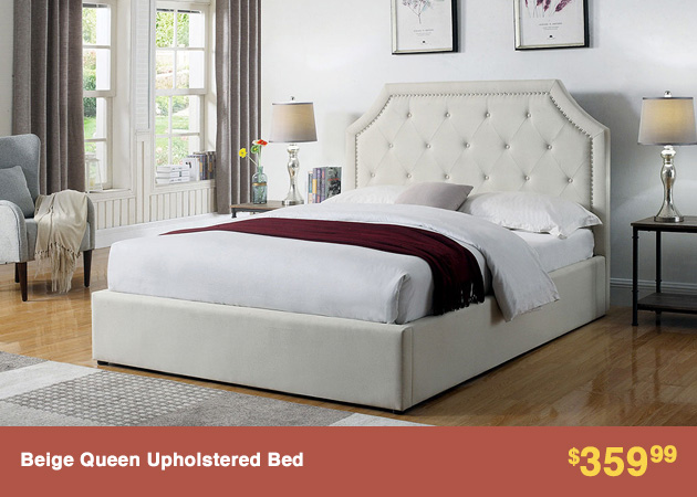 Beige Queen Upholstered Bed_4-30-18_2