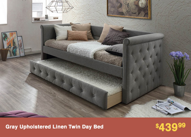 Gray Upholstered Linen Twin Day Bed_4-30-18_6