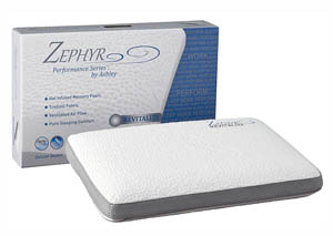 Zephyr Revitalize White Ventilated Bed Pillow