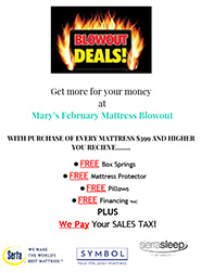 Mattress Blowout