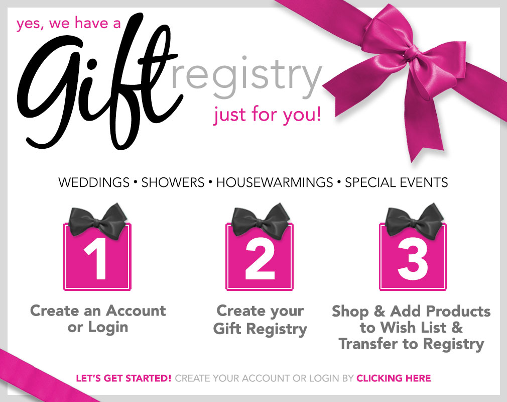 Gift Registy - Click HERE to Create an Account and Start Today!