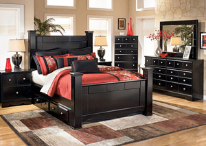 Shay King Poster Storage Bed
