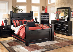 Shay Queen Poster Bed