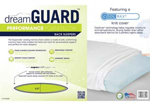 Back Sleeper Performance Memory Foam