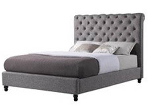 Christina Charcoal Queen Upholstered Bed
