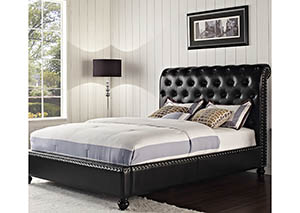Stanton Black Upholstered Queen Bed