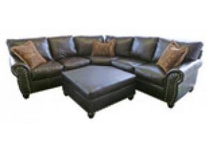 Million Dollar Rustic Austin Brown Sectional