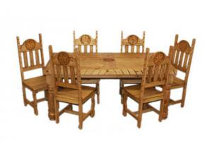 Million Dollar Rustic Natural Rope W/Star Dining Table