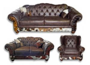 Million Dollar Rustic Sable Cowhide Group