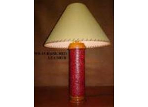 Million Dollar Rustic Red Leather Table Lamp