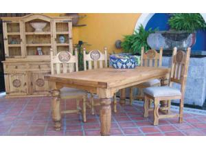 Million Dollar Rustic Mansion Dining Table W/Star