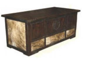 Million Dollar Rustic Dark Cowhide Desk W/Star and Rope