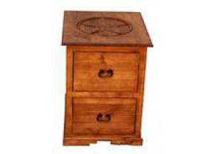 Million Dollar Rustic 2 Drawer File Cabinet W/Star
