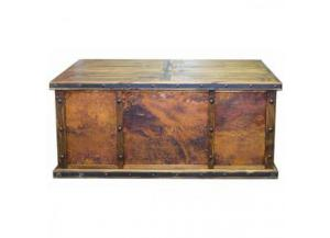 L.M.T. Rustic Copper/Wood Panel Desk