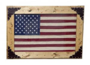 Million Dollar Rustic Fabric American Flag