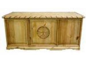 Million Dollar Rustic Executive Desk W/Star and Rope
