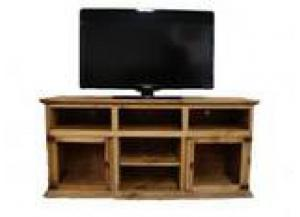 Million Dollar Rustic 2 Glass Door TV Stand