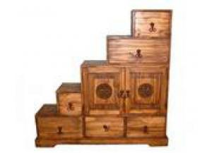 Million Dollar Rustic Tan Su 5 Step Chest