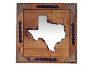 Million Dollar Rustic Large State Of Texas Mirror