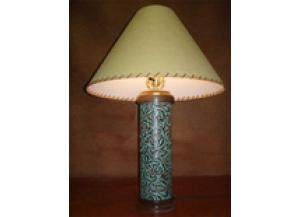 Million Dollar Rustic Turquoise Leather Table Lamp