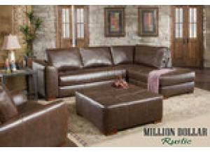 Million Dollar Rustic Capri Brown Sectional