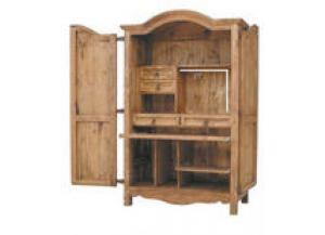 Million Dollar Rustic Computer Armoire