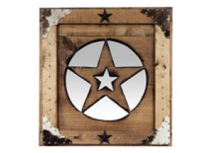 Million Dollar Rustic Medium Star Mirror