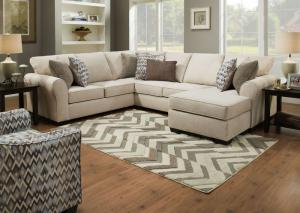 Image for 1657 3pc sectional in Boston Linen