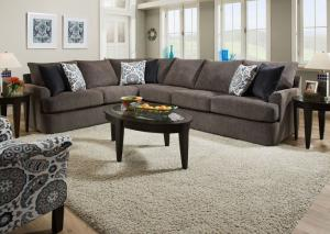 Image for 8540 BR 2pc sectional in Grandstand flannel