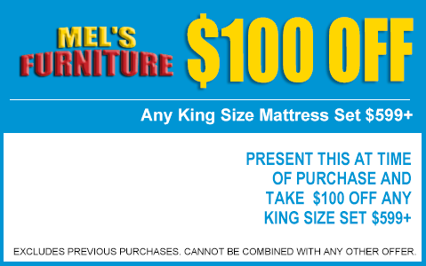 $100 Off King Mattresses
